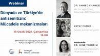 Webinar: Dünyada ve Türkiye'de Antisemitizm – Mücadele Mekanizmaları